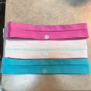 Set of 3 lululemon bright colored headbands